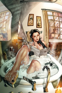Miss Fury bathtub